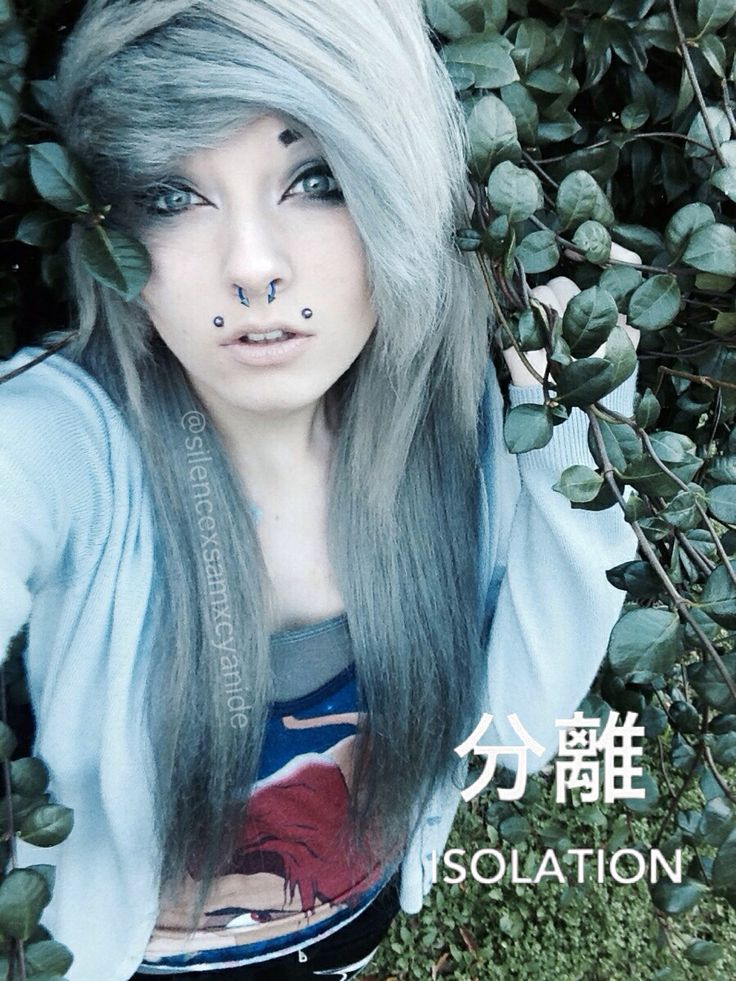 Emo Style Hair Colors e penteados para meninas e meninos