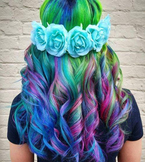 Cool Rainbow Hairstyle Ideas para meninas