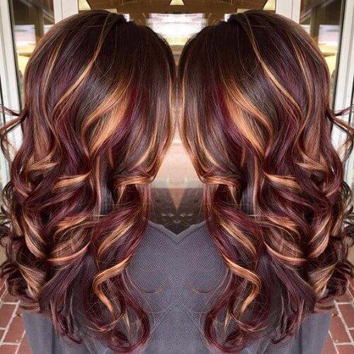35 Idéias de cabelo de Borgonha para cabelo loiro, vermelho e morena