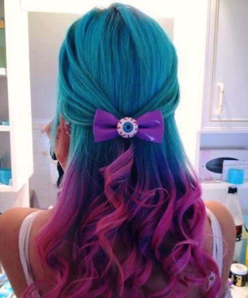 cor de cabelo de teal whimsical