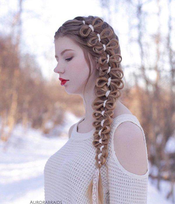 Últimas elegante inverno festa penteado idéias 2018