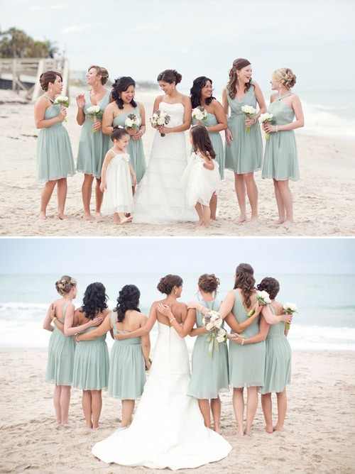 Penteados de dama de honra para o casamento de tema de praia