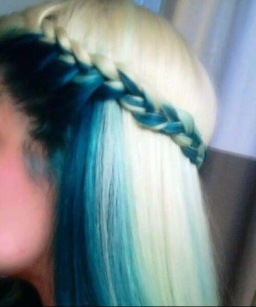 sob a cor do cabelo da cerceta da camada e do quadro
