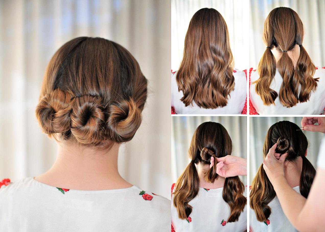 Idéias para criar penteados para cabelos de comprimento médio