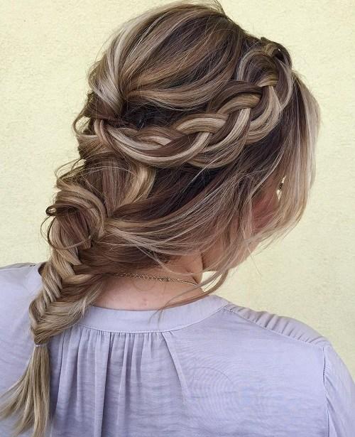 Incrível 12 Trançado Head Hairstyle Ban Idéias Para As Meninas