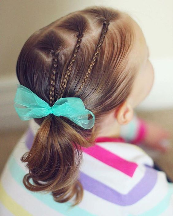 Penteados de rabo de cavalo bonito & fácil verão para meninas