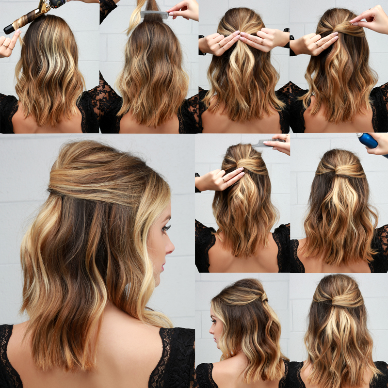 Como Fazer Chic Party Half Up Lob Hairstyle