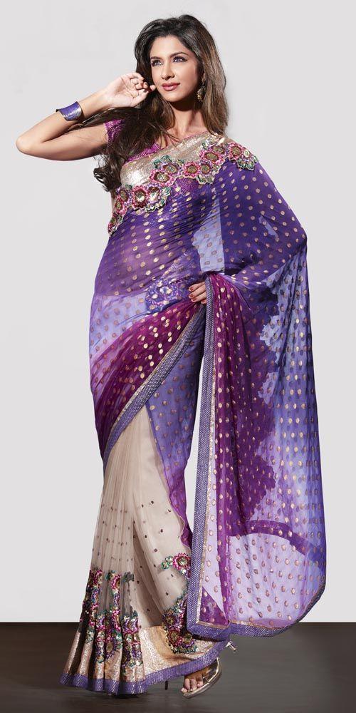 Penteado perfeito para fazer com sarees tradicionais