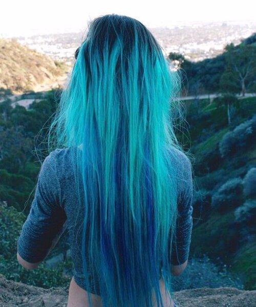 como a cor do cabelo da cerceta da água