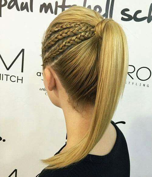 Temas de penteado em linha reta para meninas à moda