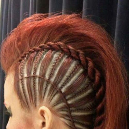 45 penteados moicanos trançados ferozes