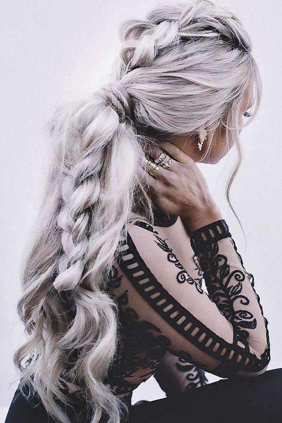 70 estilos de cabelo cinzento, idéias e cores