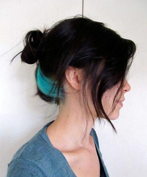 raia teal cabelo cor