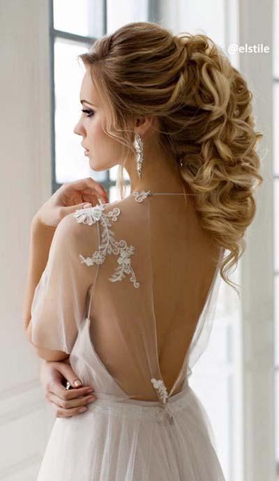 Idéias de penteado nupcial diferente para casamentos de verão