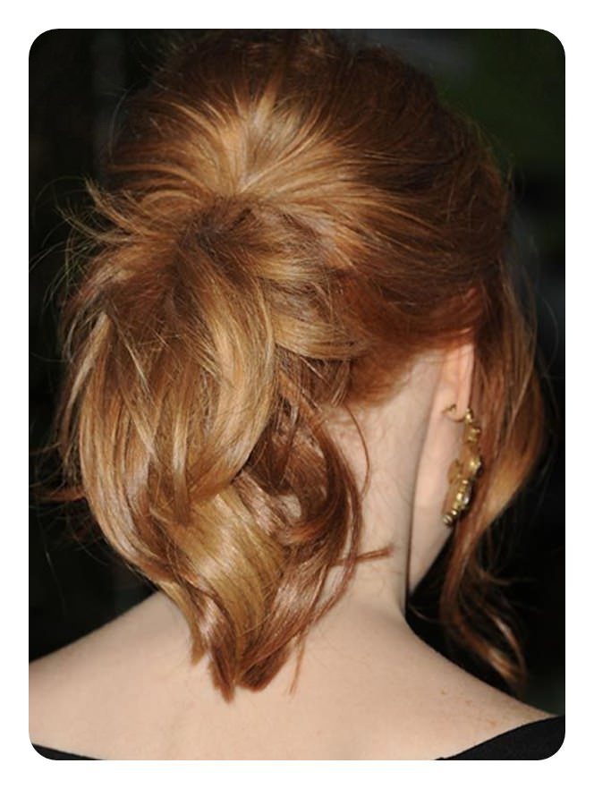 97 incrível rabo de cavalo com penteados bangs
