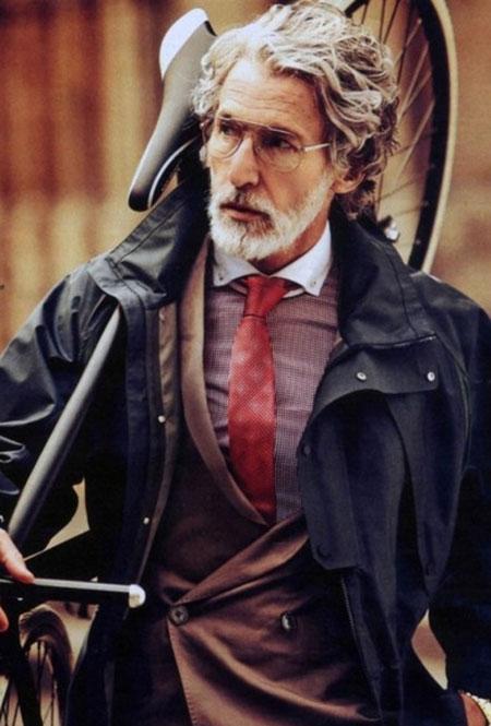 Melhores idéias de penteado para homens acima de 50 anos