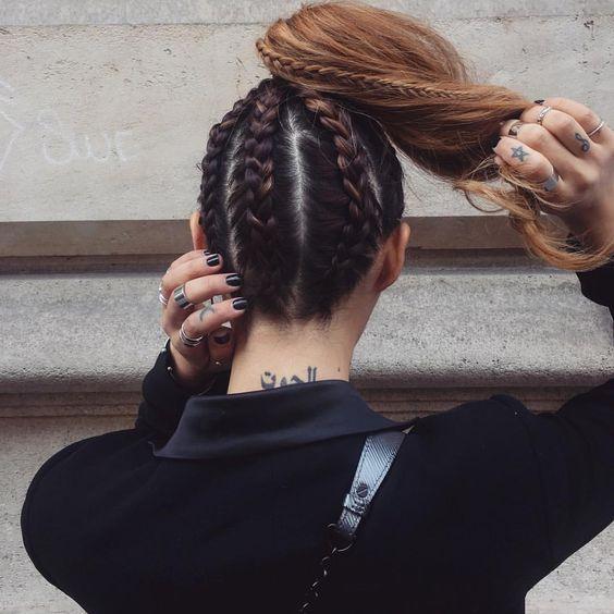 Penteados diferentes com tranças para fazer no verão