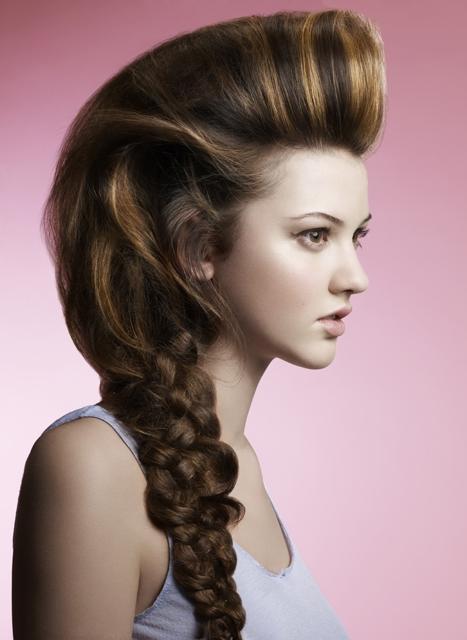 Penteado incrível Quiff para senhoras elegantes