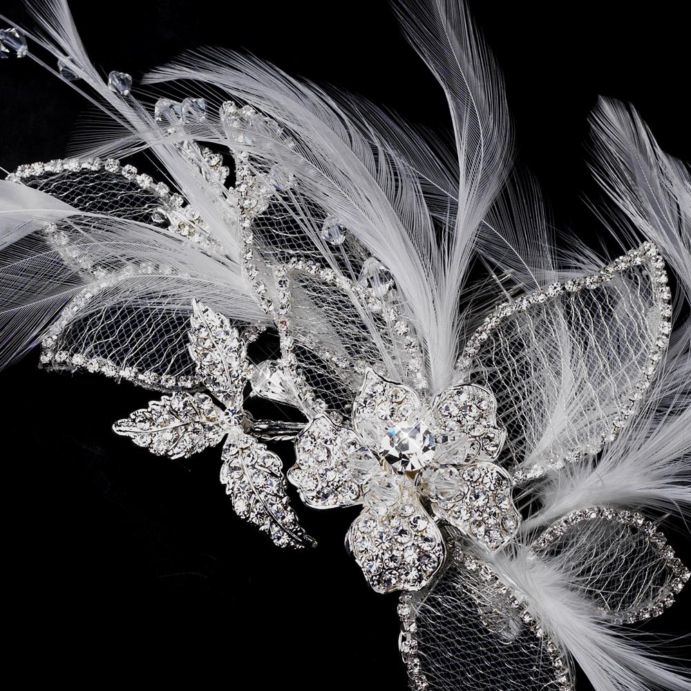Idéias de pente de cabelo em cristal e strass para casamento