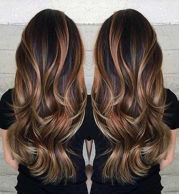 Corte de cabelo em camadas elegante para meninas na moda