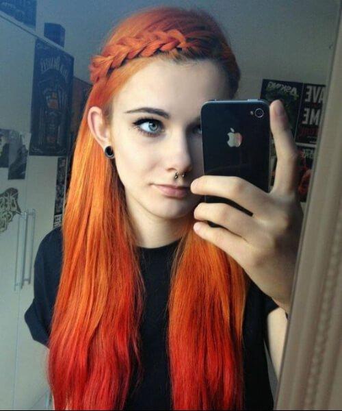 40 idéias mais quentes para cabelos vermelhos Ombre