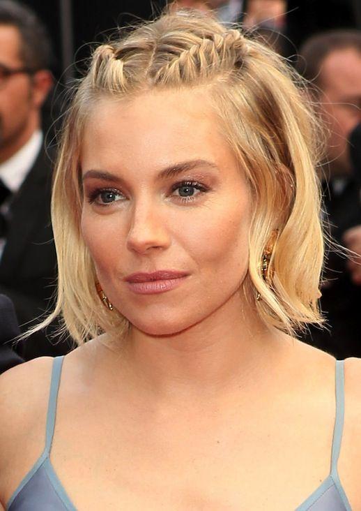 Penteados fáceis para cabelos curtos para o ano de 2018