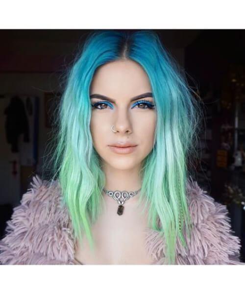 cabelos longos de sereia