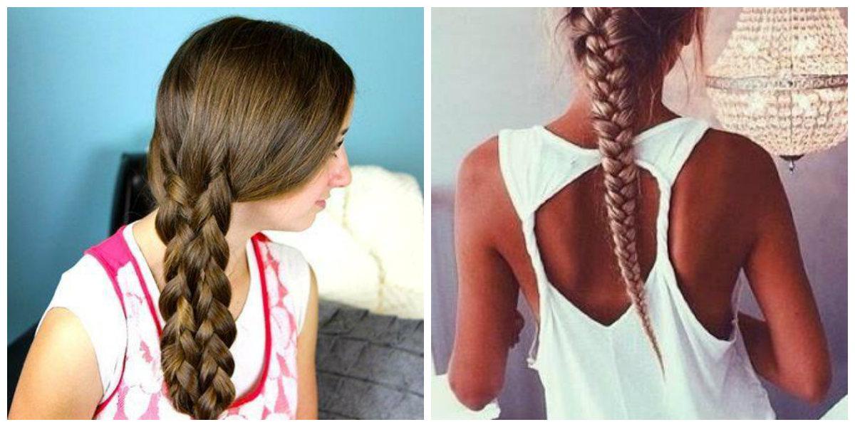 Penteado de tranças bonito para crianças