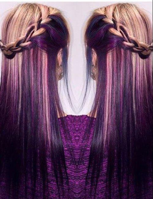60 idéias de cabelo roxo e penteados