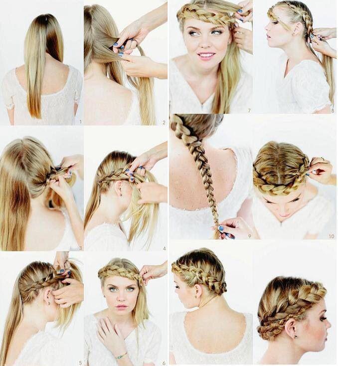 Faça coroas trançadas de estilo diferente em casa com tutoriais fáceis