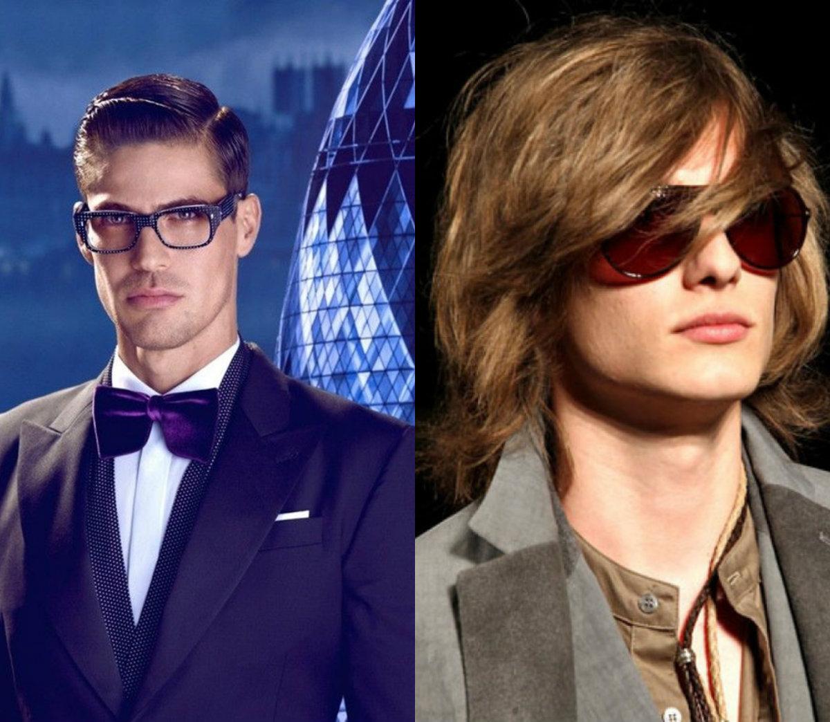 Alguns penteados maravilhosos que lisonjeiam com óculos da moda