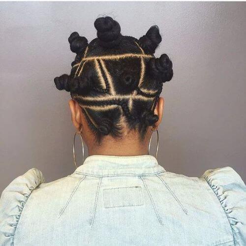 50 impressionantes bantu knots para tentar em casa
