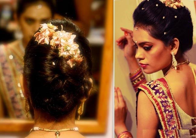 Inspirando 15 penteados nupciais indianos