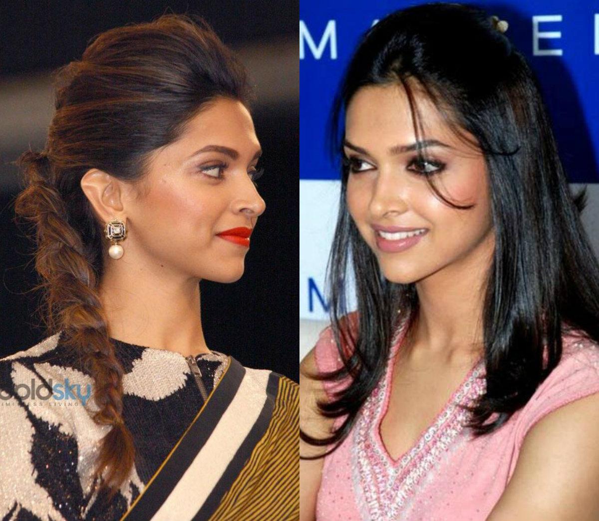 Idéias de penteados de comprimento médio através de celebridades de Bollywood