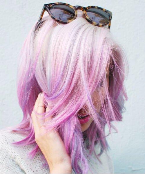 cabelo de sereia pastel