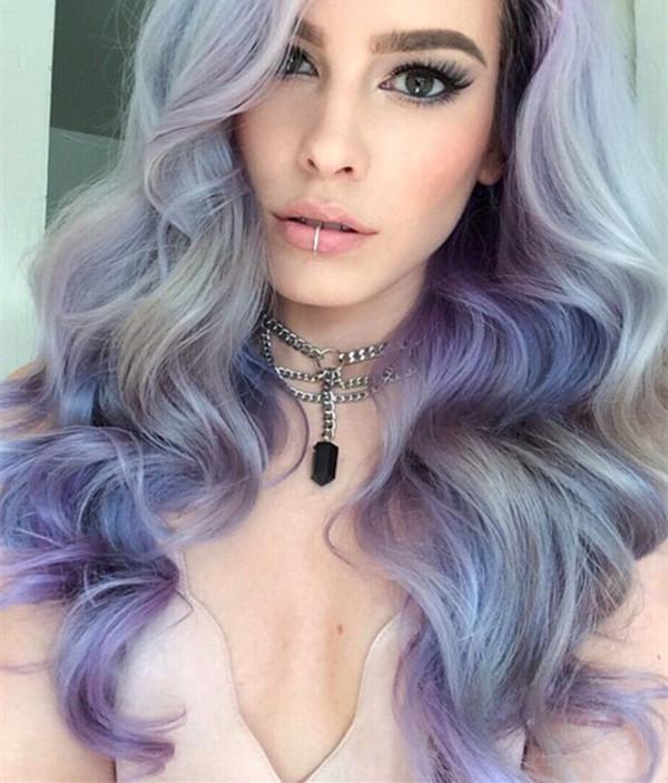 Idéias de cores de cabelo cinza na moda para meninas escaldantes