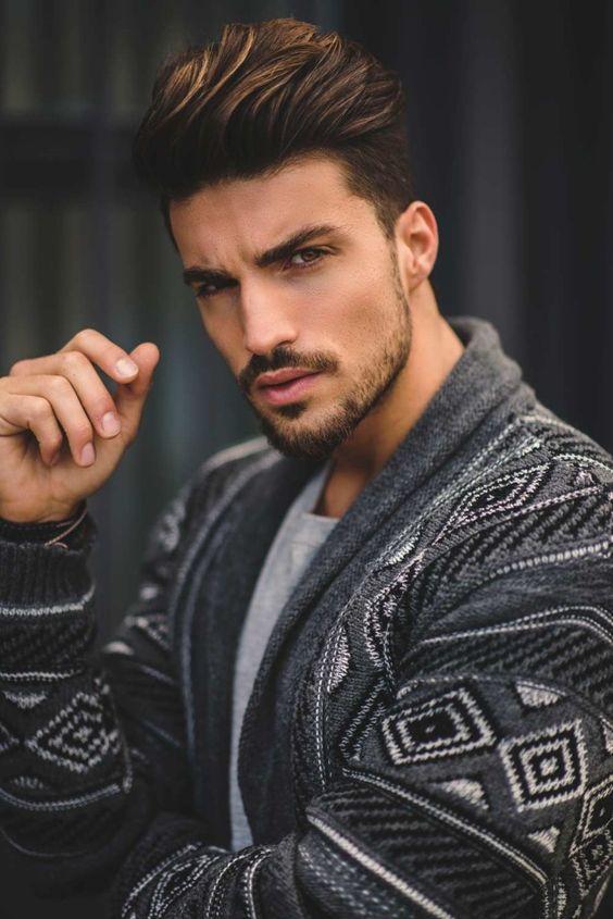 Cool estilo de idéias de barba e corte de cabelo para homens