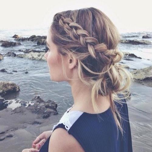 Atraente Verão Boho Penteado para Meninas