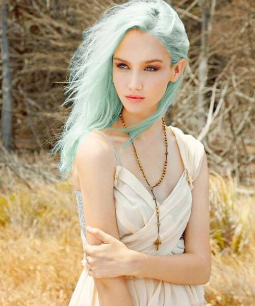 cor de cabelo de madeira fada teal