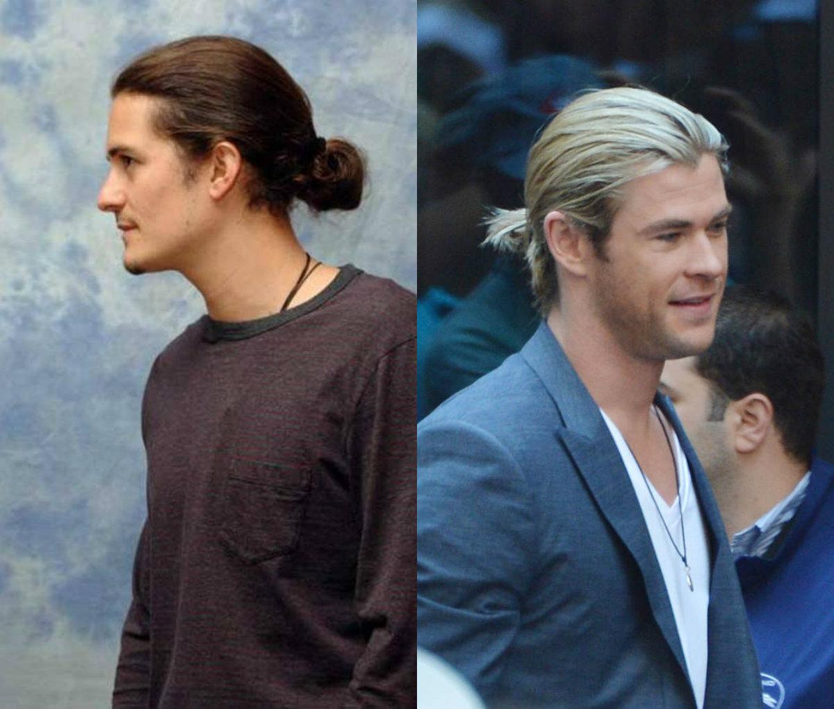 Melhores idéias de estilo de pônei para homens de cabelos longos
