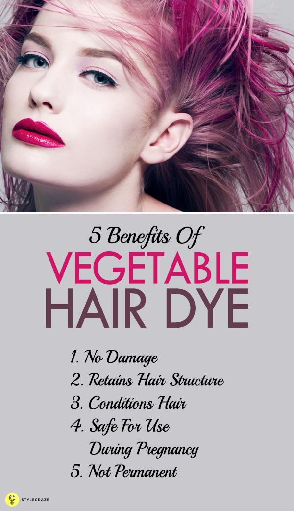 Vantagens eficazes da tintura de cabelo dos vegetais