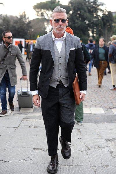 incrível estilo de rua prata cor de cabelo para homens (1)
