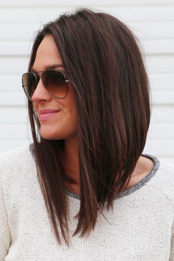 Encontre um corte de cabelo perfeito, moderno e elegante para o seu cabelo liso