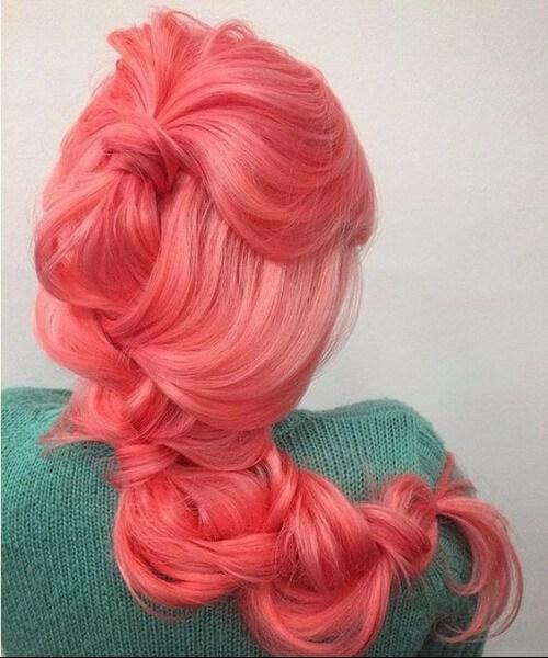 cabelo de sereia coral