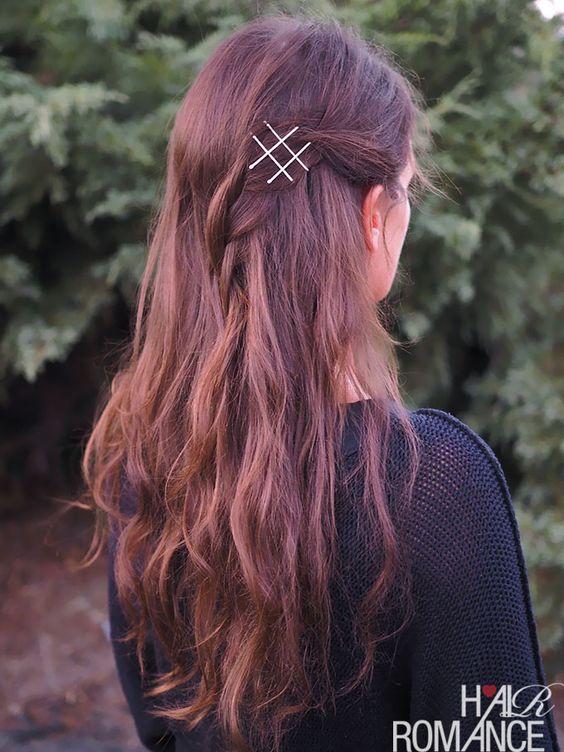 Dê seu penteado simples Wow Factor com grampos