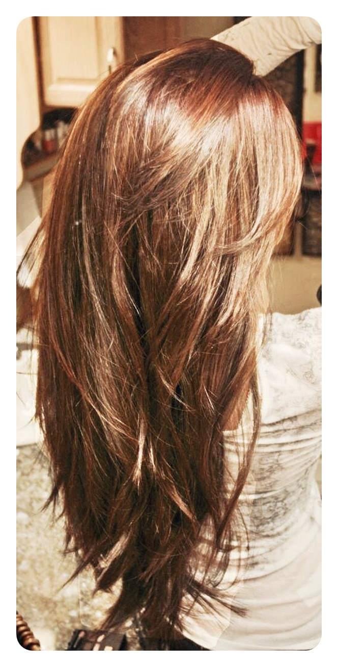 60 V Cut and U Cut penteados para dar-lhe o ângulo direito