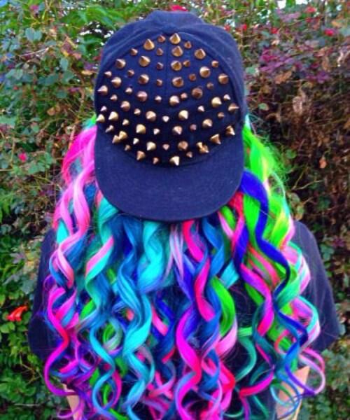 cabelo de sereia de estilo de rua