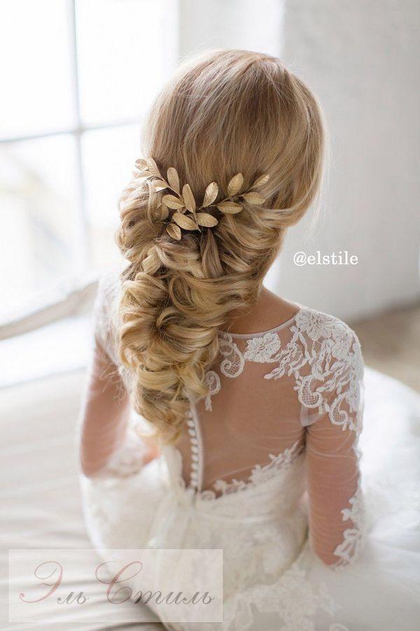 Idéias de penteado de casamento longo bonito para noivas