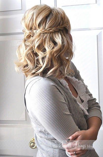 Idéias de cachos penteado para cabelo de comprimento médio