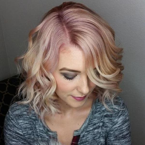 45 lindas idéias de penteado de ouro rosa que vão mudar o seu mundo